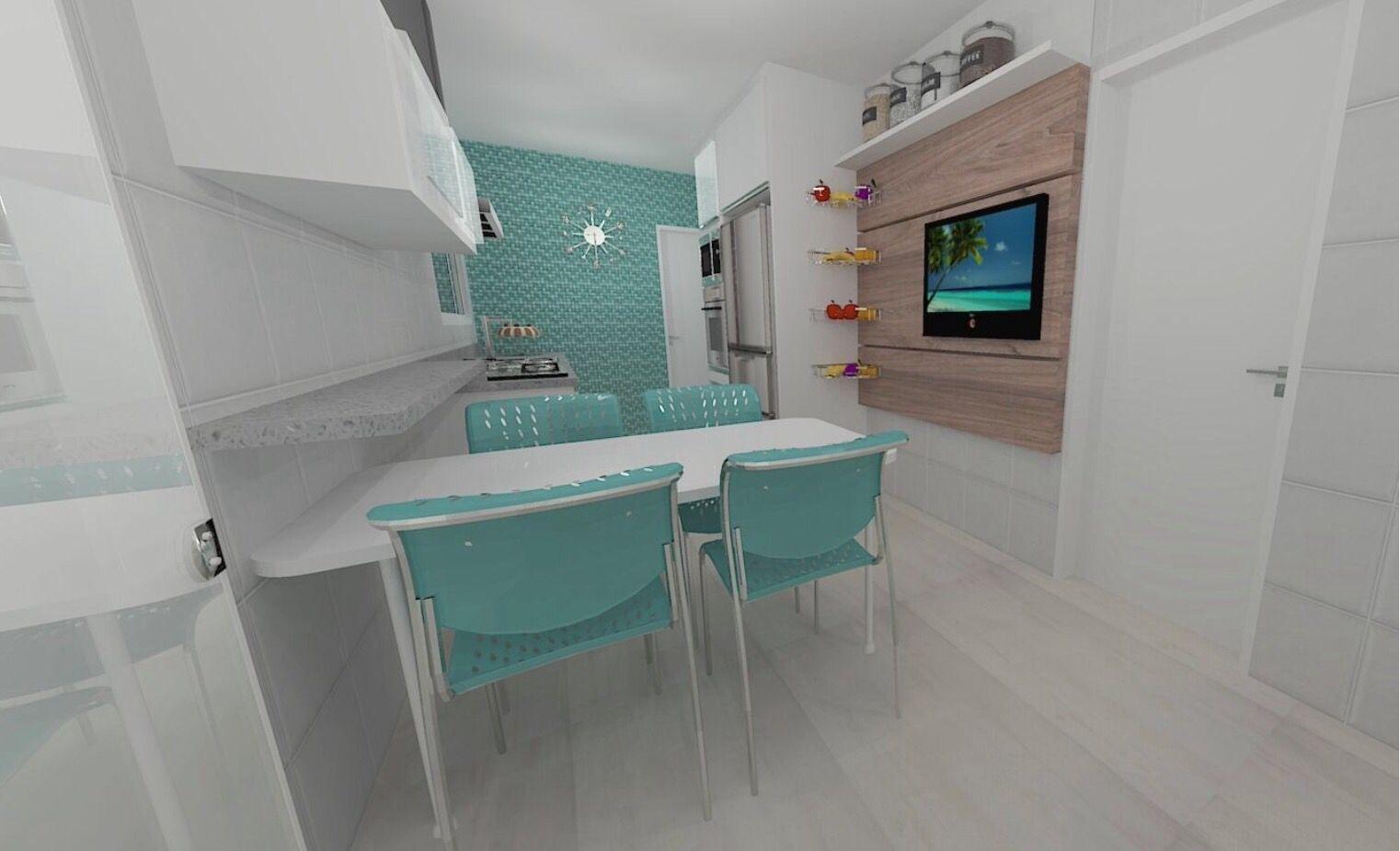 Cozinha verde água, diferente!