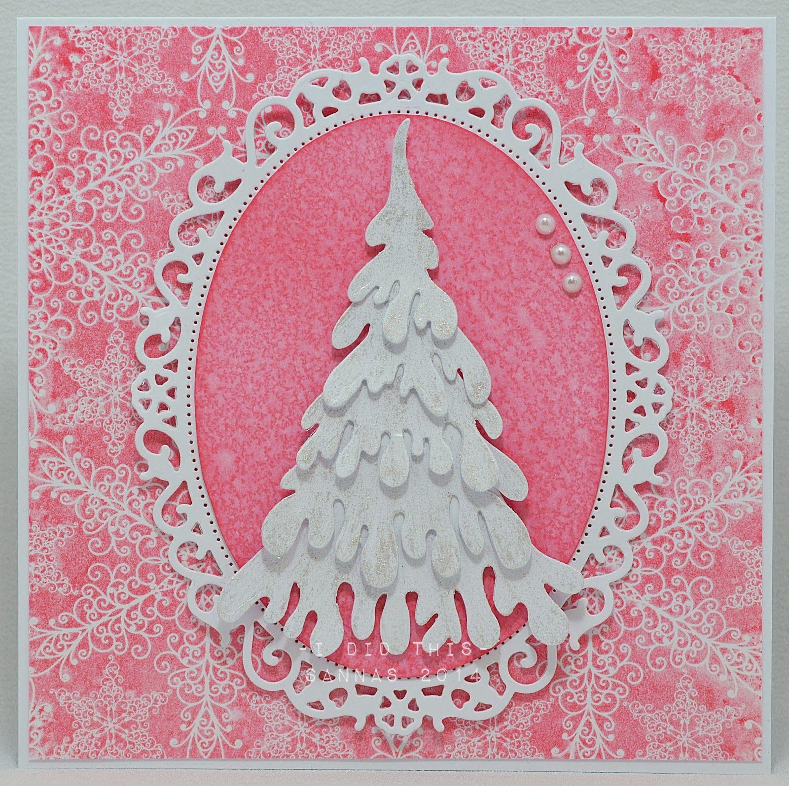 4 joulukorttia tammikuulle...