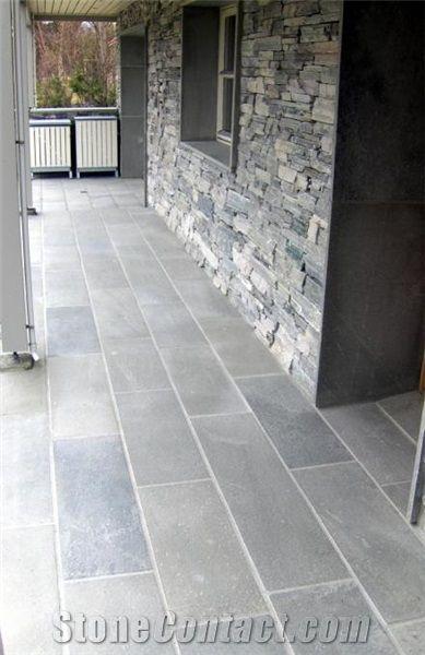 Grey Slate Floor Tiles From Norway Stonecontact Com Slate Flooring Outdoor Porch Porch Tile