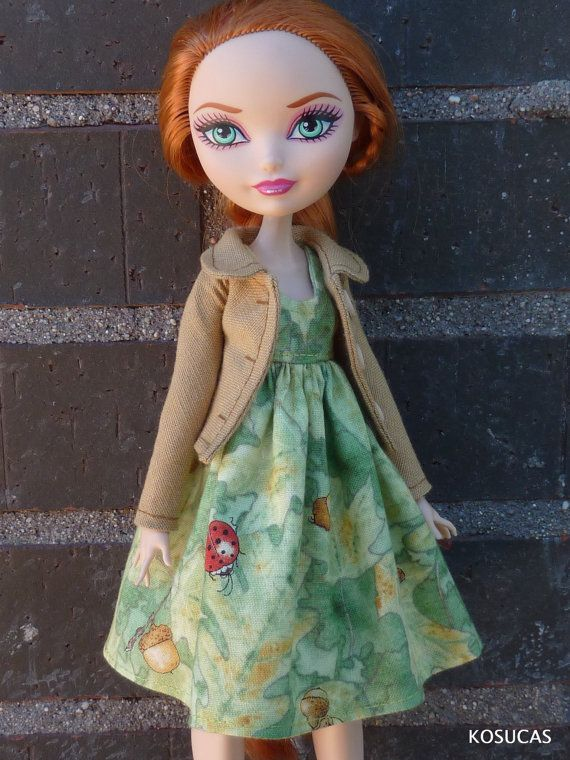 Jacket and dress for Ever After High dolls. by Kosucas on Etsy