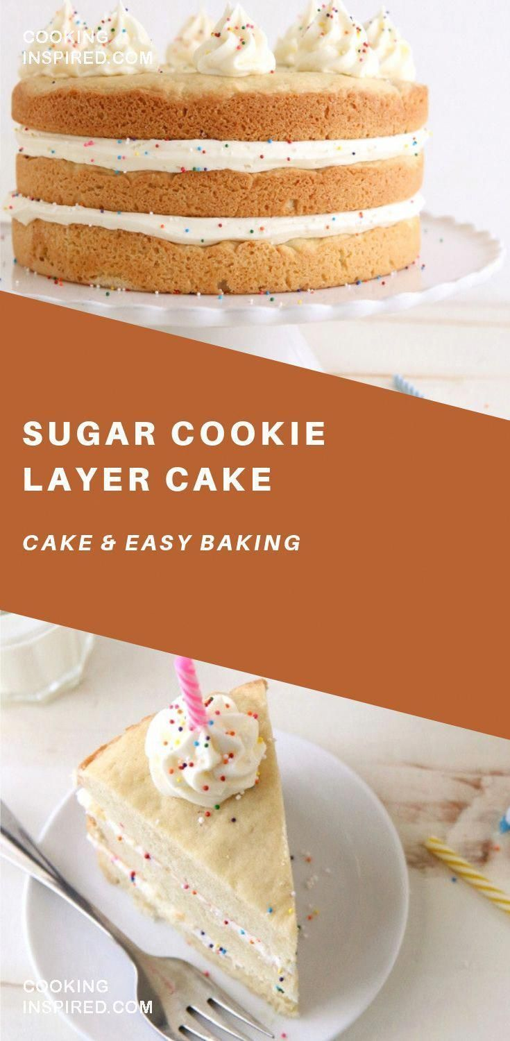 giant sugar cookies and vanilla buttercream frosting make a fun dessertLayers of giant sugar cookies and vanilla buttercream frosting make a fun dessertof giant sugar coo...