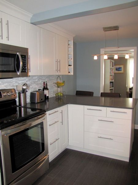 Kitchen white cabinets shaker style