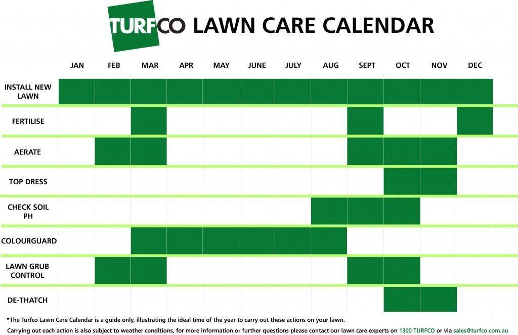 Turfco Com Au 1000 Care Calendar Lawn Care Garden Care