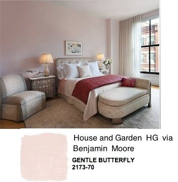 Wall Color Type Pink Blush Gentle Erfly 2173 70 Benjamin Moore