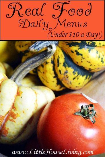 Real Food Daily Menu Real Food On A Budget Cheap Organic Food Cheap Organic Meals Real Food Recipes Organic Recipes