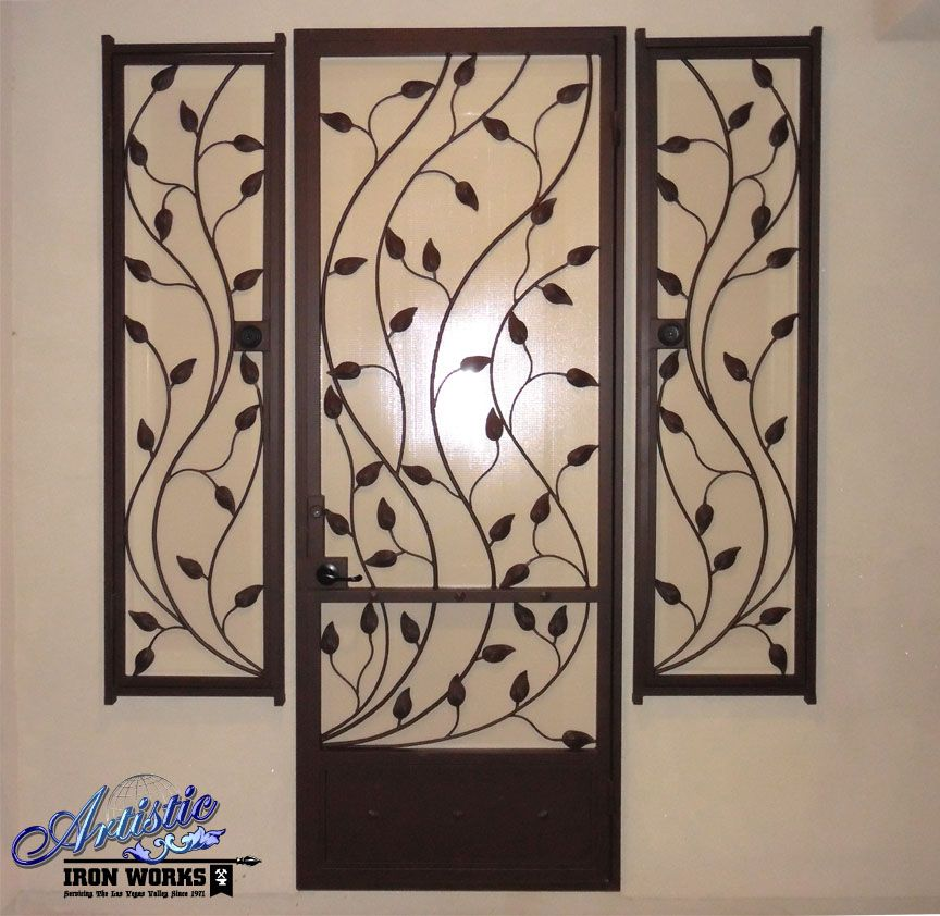 wrought iron vine and leaves
