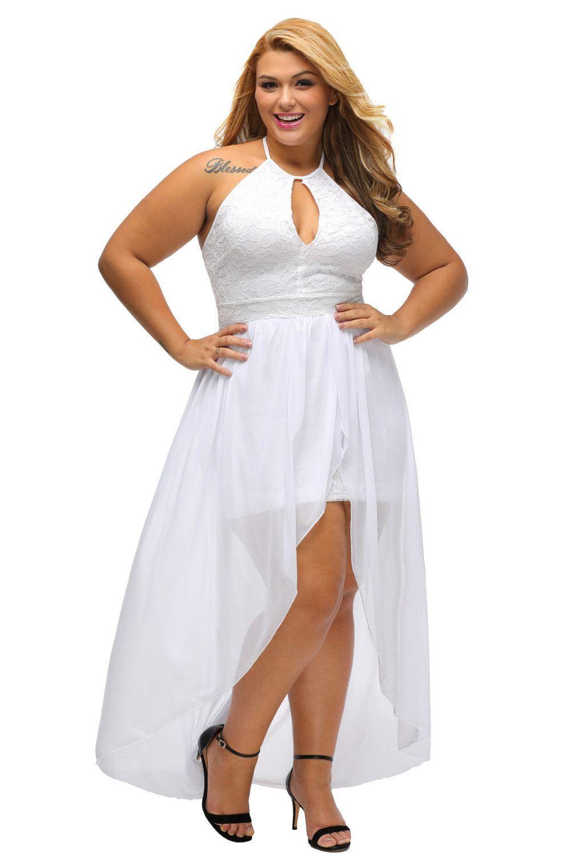 Stylish Lace Special Occasion Plus Size Dress Https Www Modeshe Com Plus Size Dress White Plus Size Dresses Plus Size Dresses [ 1500 x 1001 Pixel ]