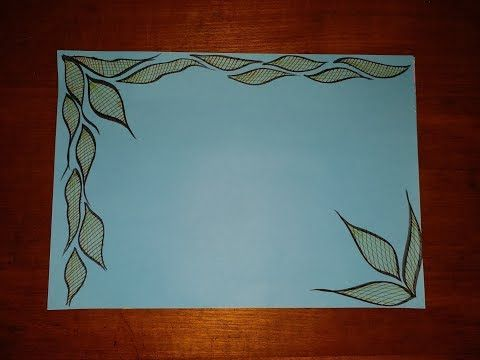 Simple And Easy Border Design For Chart Paper   www     Diy simple easy decorative border design for project file on color chart  paper also youtube pinterest
