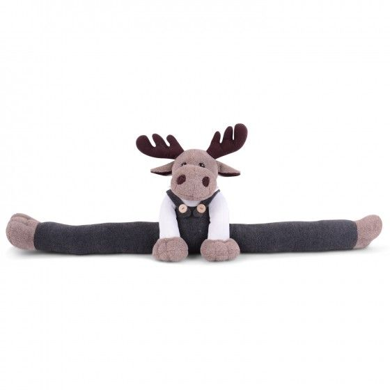 Soft Light Brown Fabric Moose Draught Excluder See Pin
