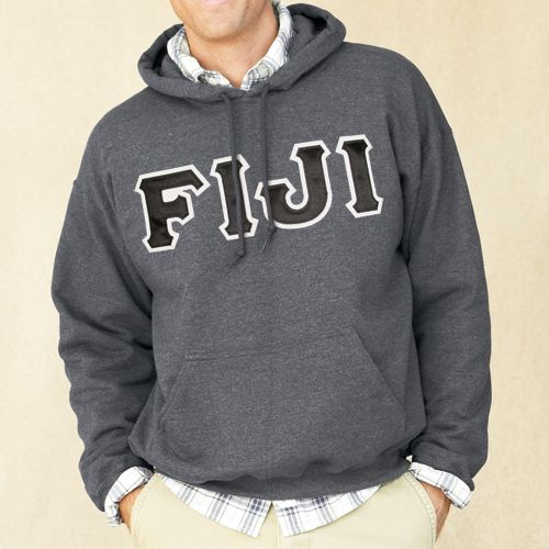 Campus Classics - FIJI Dark Heather Hoodie with Sewn On Letters, $49.95 (http://www.campus-classics.com/hot-item-fiji-dark-heather-hoodie-with-sewn-on-letters/)