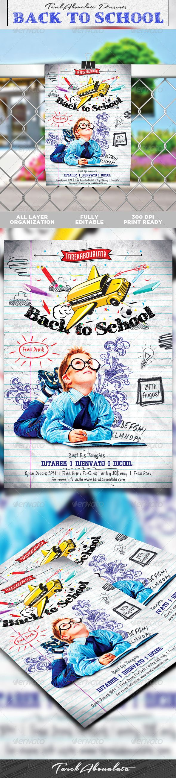 Back To School Flyer Template V  Flyer Template Template And