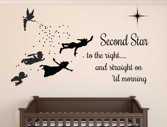Peter Pan Wall Decal   REMOVABLE