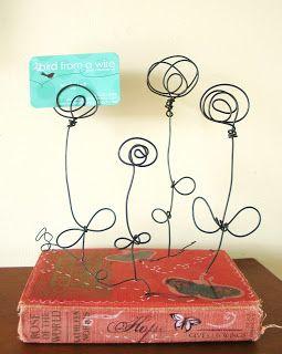 photo/card holder | book art | Pinterest | Draht, Maschendraht und ...