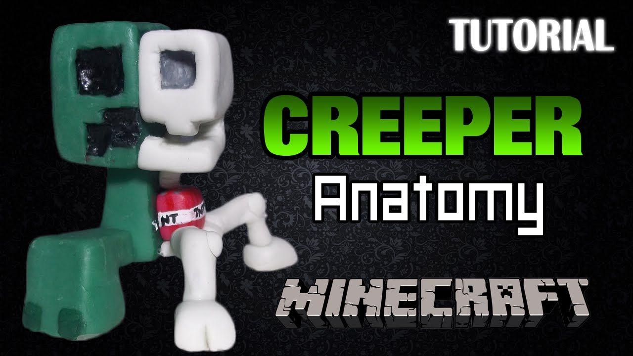 Tutorial Creeper Anatomy en Porcelana Fria | Minecraft | Creeper ...