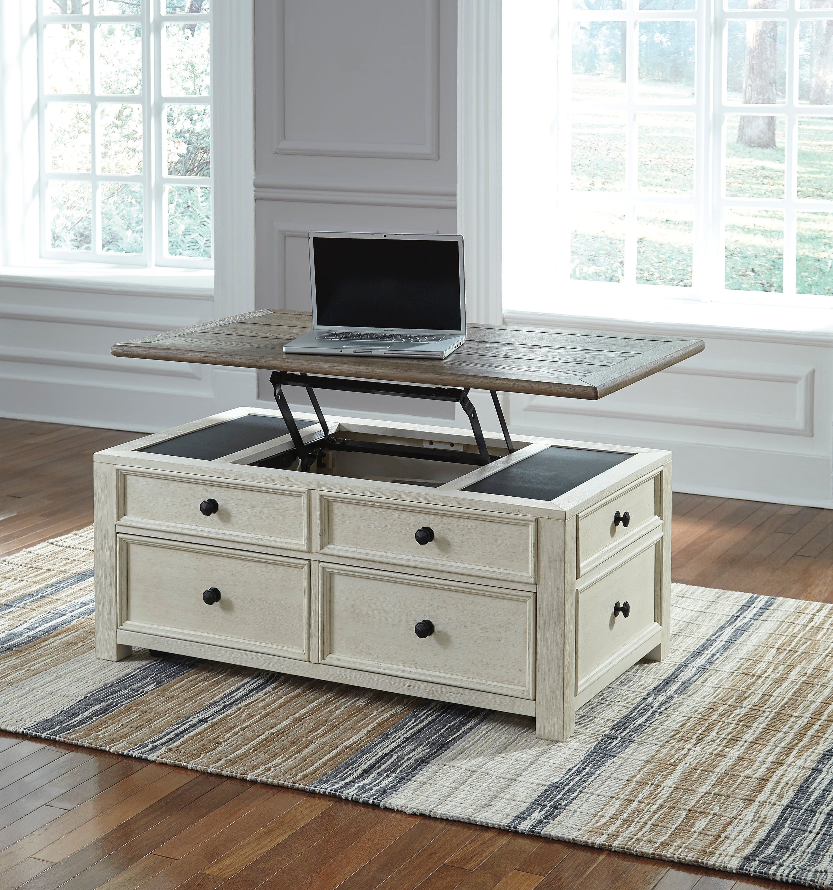Bolanburg Coffee Table with Lift Top Wood lift top