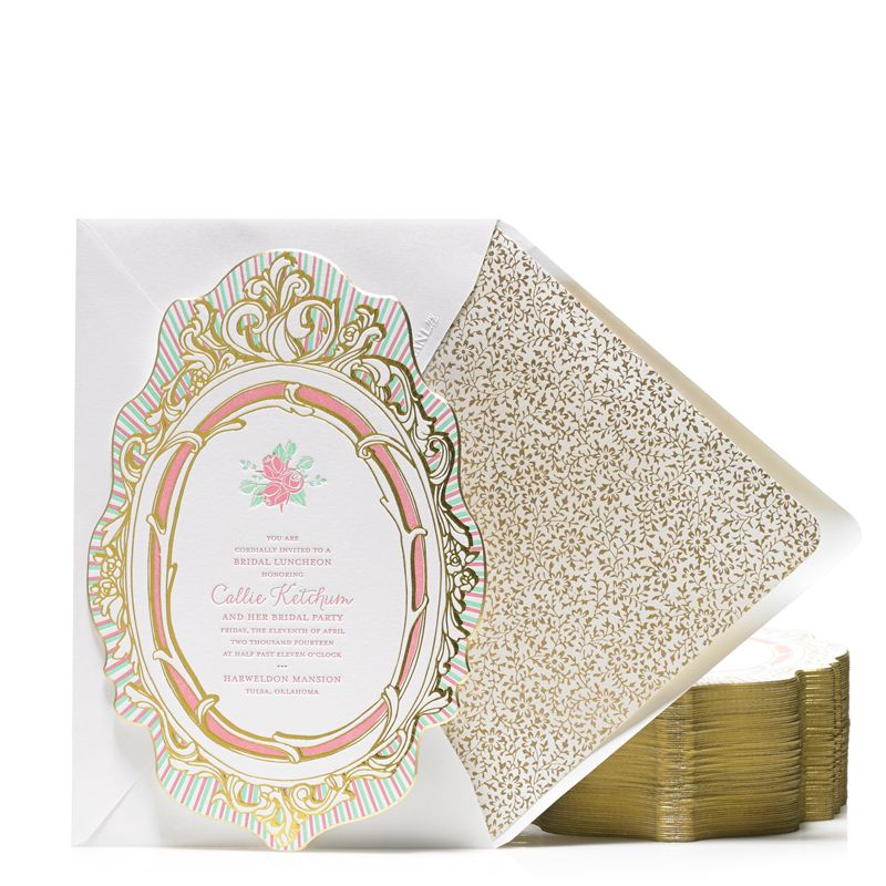Princess inspired mirror shaped gold foil and letterpress bridal princess inspired mirror shaped gold foil and letterpress bridal shower invitation bellinvito couture filmwisefo Gallery
