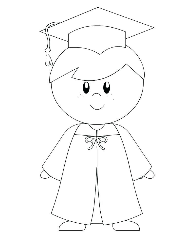 Graduation Coloring Pages Free Printable Graduation Day Is A Day That Students Always Look For In 2020 Kindergarten Graduation Kindergarden Graduation Kids Graduation