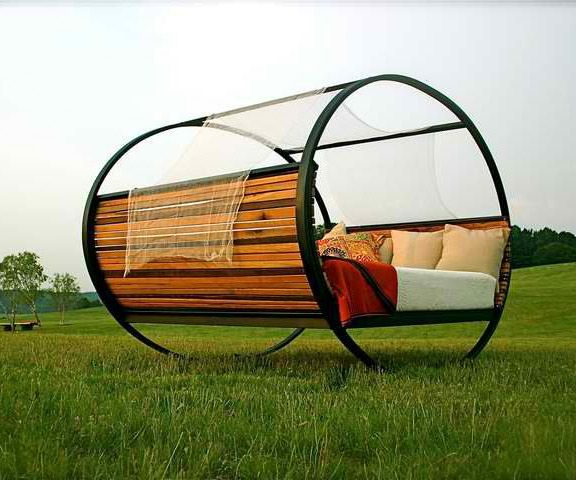 The Rocking Bed | Outdoor beds, Backyard and Swings