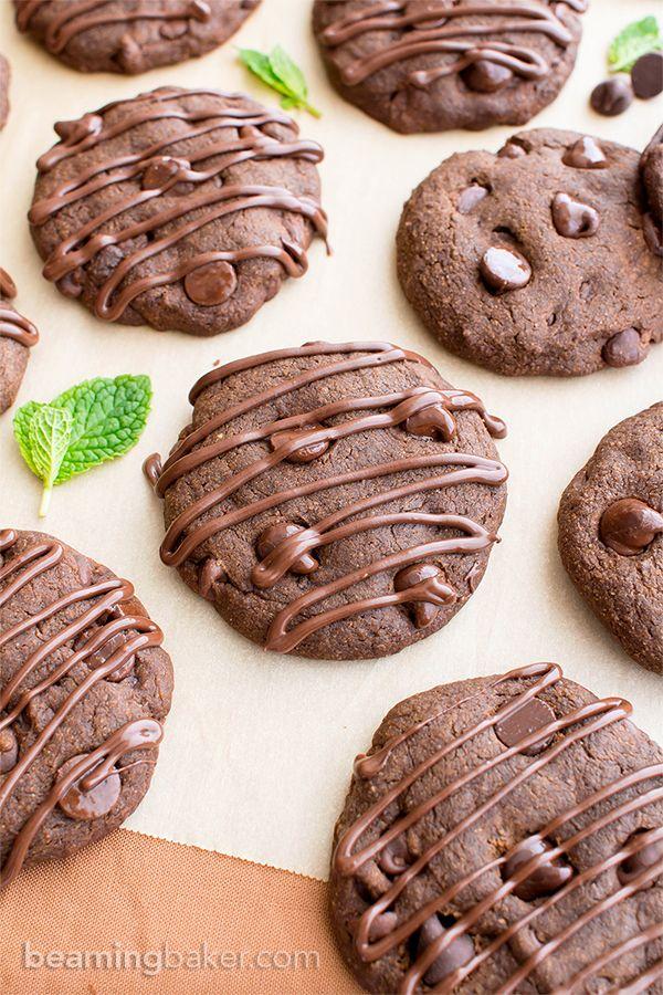 Vegan Triple Chocolate Peppermint Cookies V Gf Df An Easy