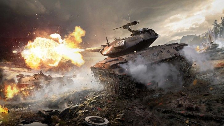 Download World of Tanks Game T49 Tank Explosion Destruction 2560x1600