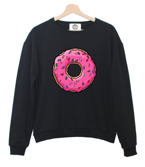Hey, I found this really awesome Etsy listing at https://www.etsy.com/listing/187387308/pink-donuts-sweatshirt-jumper-hipster
