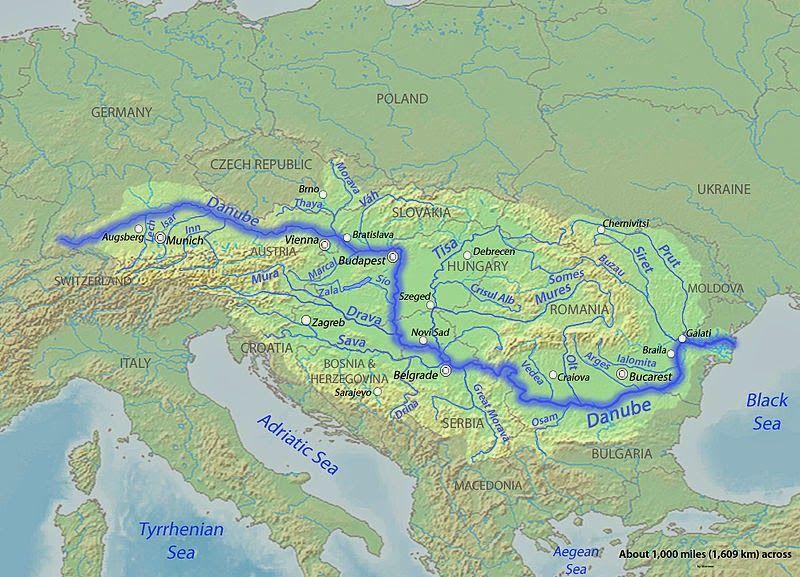 europe physical map danube river Danube River | Geology Page | Danube river, Danube, Map