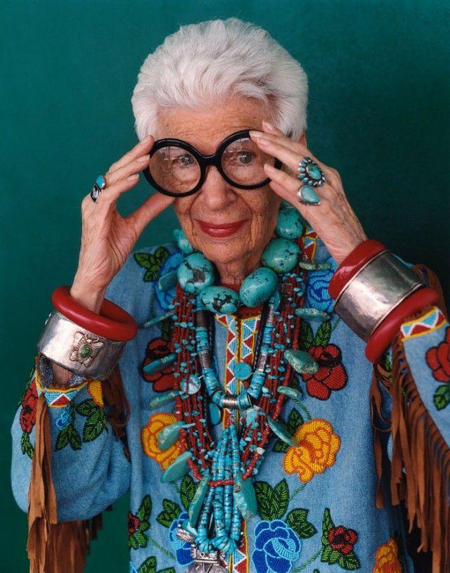 Iris Apfel 92 år och stilikon