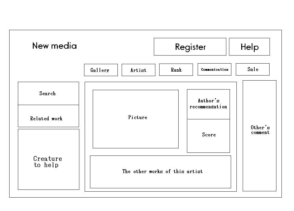 Pretty Simple Example For An Artist / Author Website.