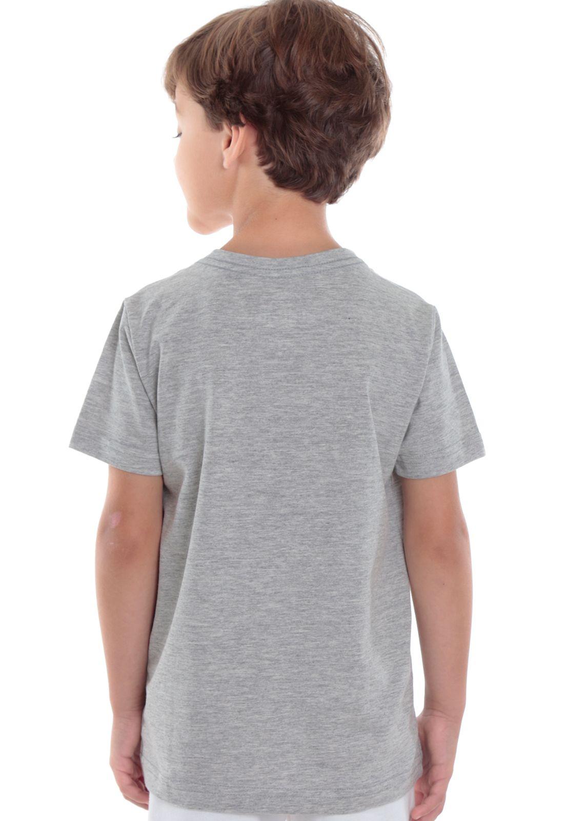 Camiseta Cinza Mescla