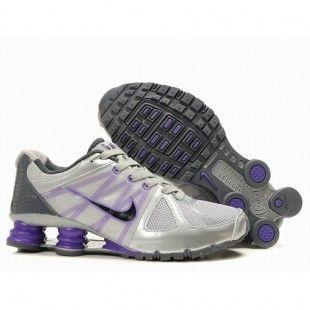 Nike Shox Agent Women Silver/Grey/Purple/Black Shoes 1001