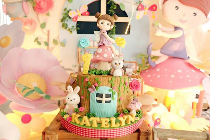 Fairy Cake From Garden Fairy 1st Birthday Party At Karau0027s Party Ideas. See  More At