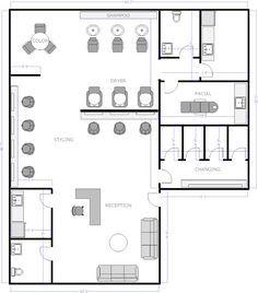Free Salon Floor Plans Salon Interior Design Room Layout Planner Floor Plan Design
