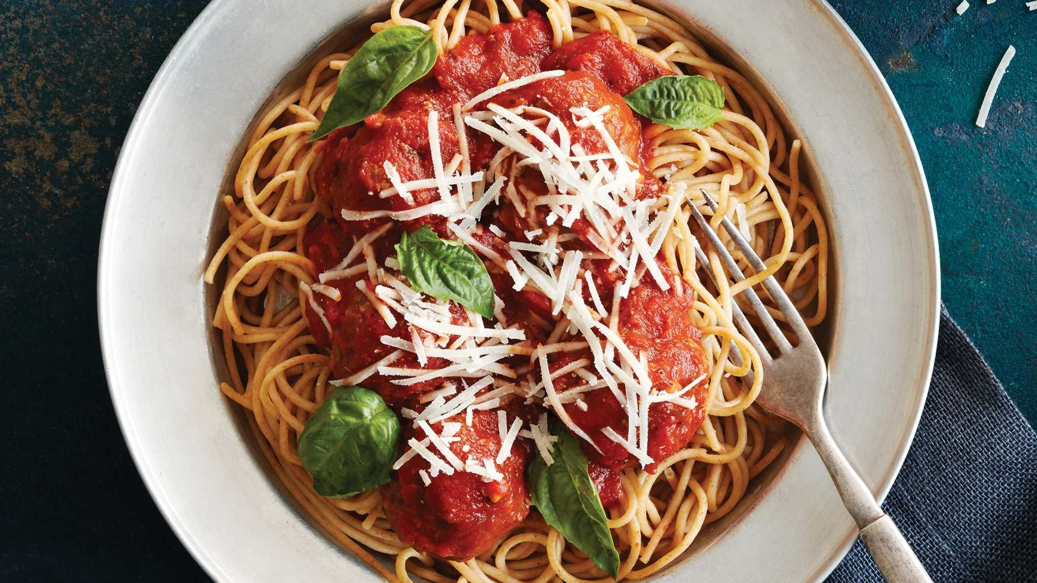 """Stuffed"" Spaghetti & Meatballs. Dressing (aka stuffing) has long served as a faithful sidekick to turkey. Here, the side steals the show in traditional meatballs, lending moist texture and tons of flavor."