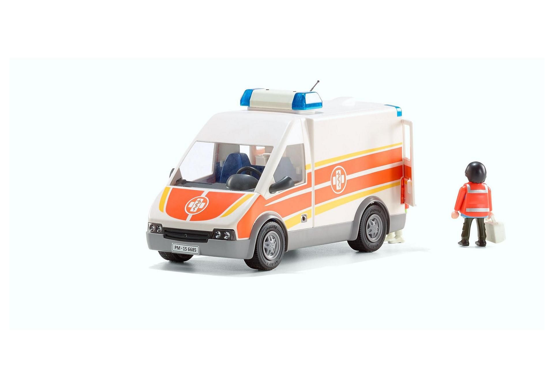 ambulance with lights and sound - 6685 - playmobil® united