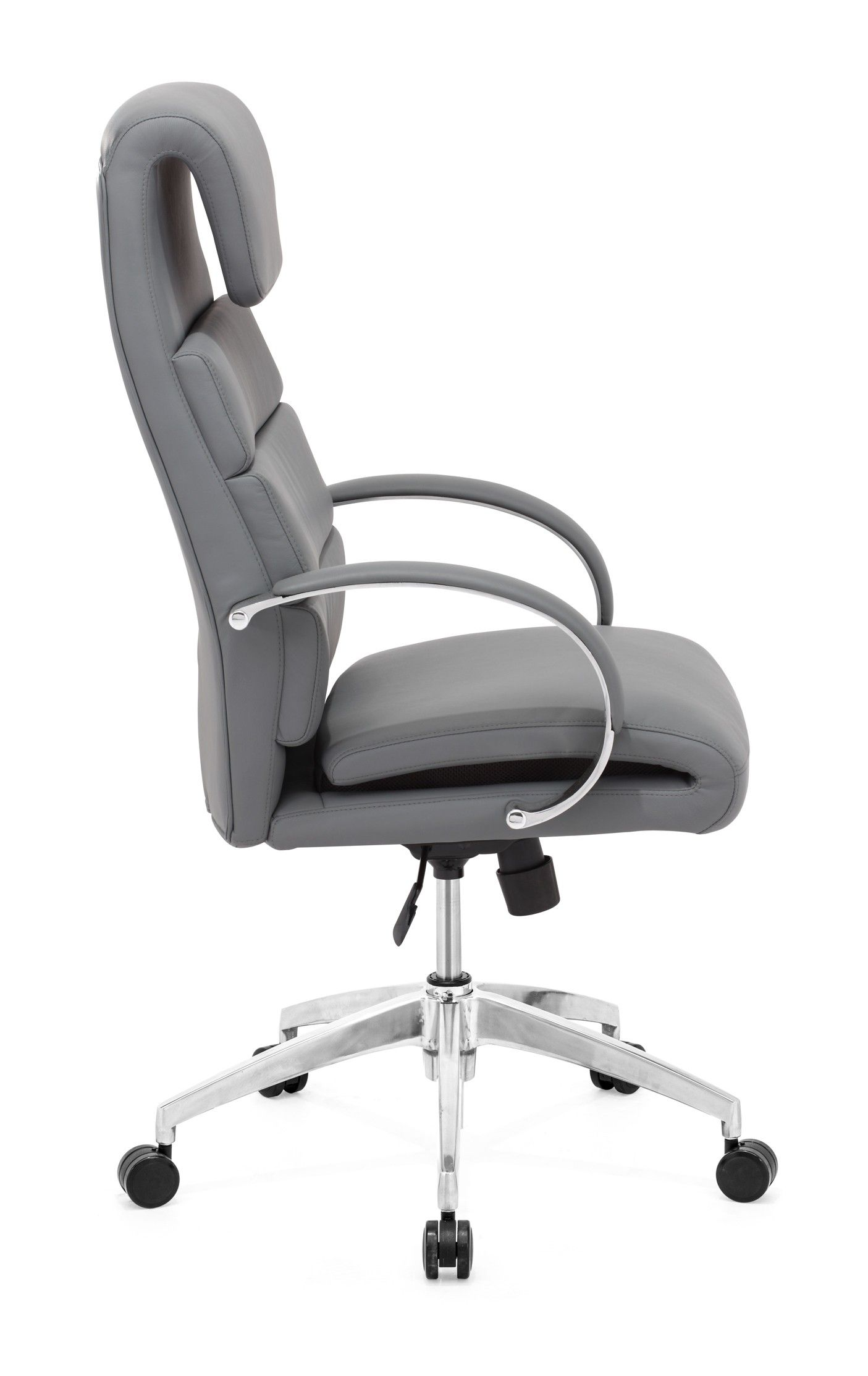 Modern ergonomic office chairs - Gray Lider Comfort Office Chair This Gray Office Chair By Zuo Modern Has An Polished Aluminum Finish And Is From Their Lider Comfort Collection