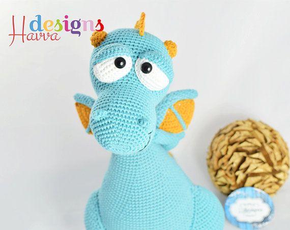 Crochet Pattern - Blummy The Dragon (Amigurumi Toy Pattern ...