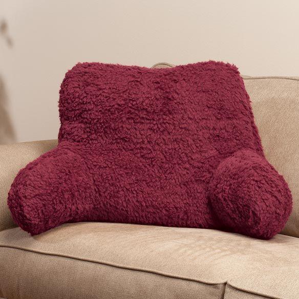 sherpa backrest pillow sherpa