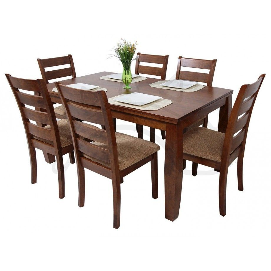 Commodity juego de comedor horacio 6 sillas for Comedor de madera 6 sillas