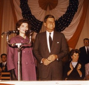Senator John F. Kennedy and wife, Jacqueline after his 1960 November election as President. (Corbis)