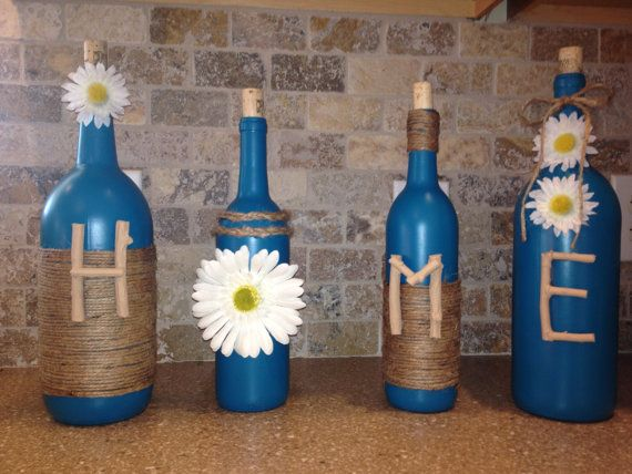 Hey, I found this really awesome Etsy listing at https://www.etsy.com/listing/385511208/home-wine-bottle-decor-home-decor-teal