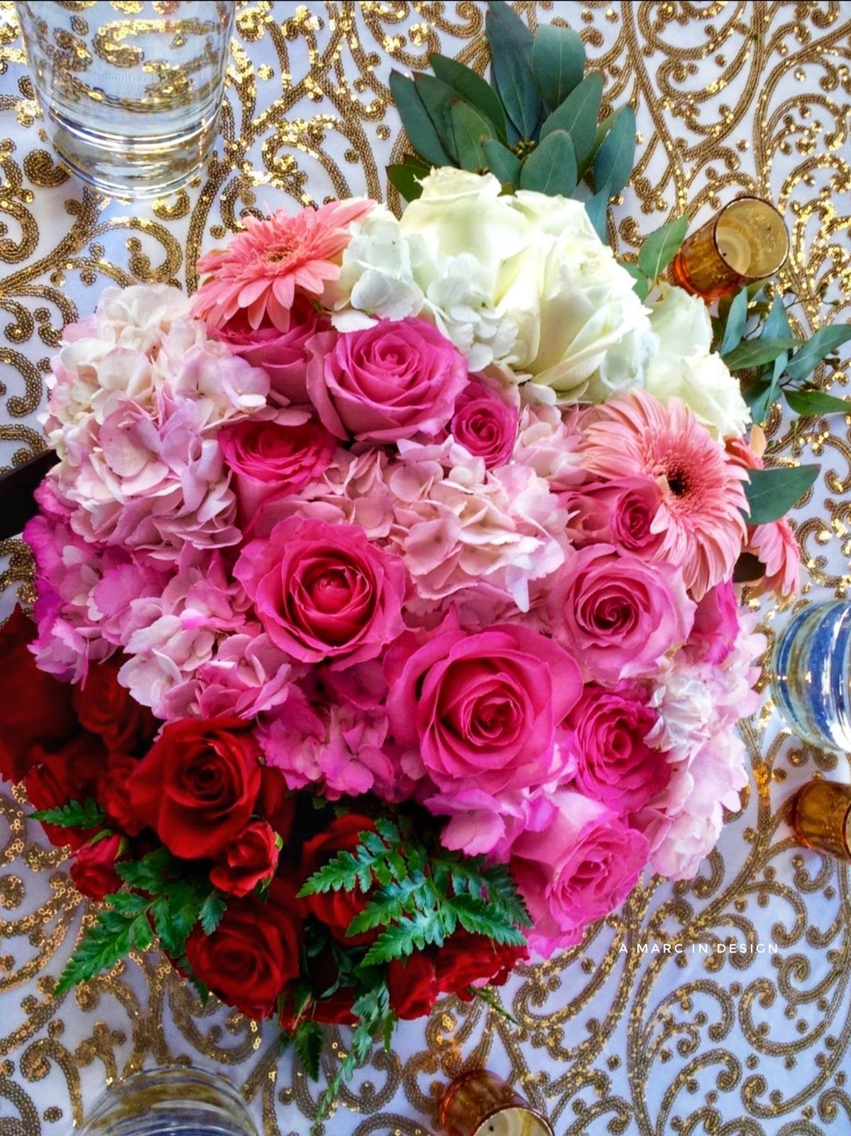 Pink Ombré Centerpiece in 2020 Flower delivery, Same day