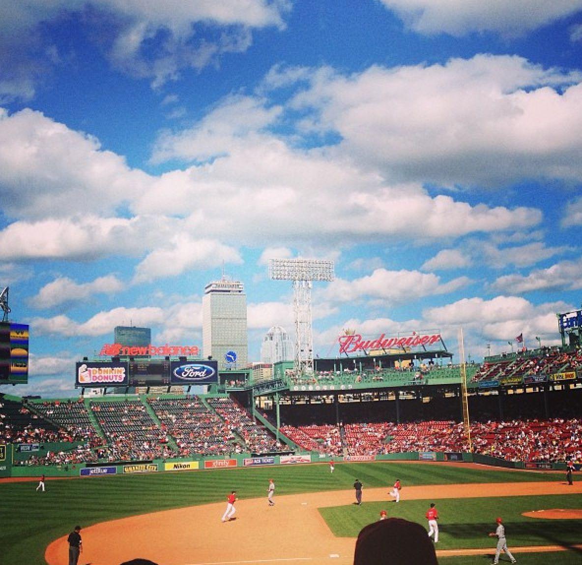 #boston #fenway #redsox #baseball #perfectday #clouds #pretty #sports