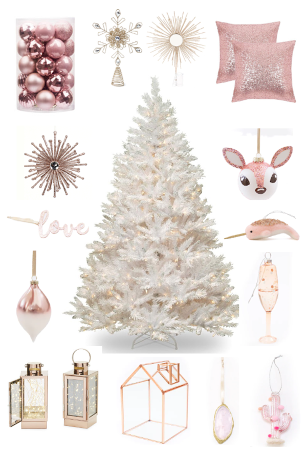 Pretty Pink Christmas Decorations images