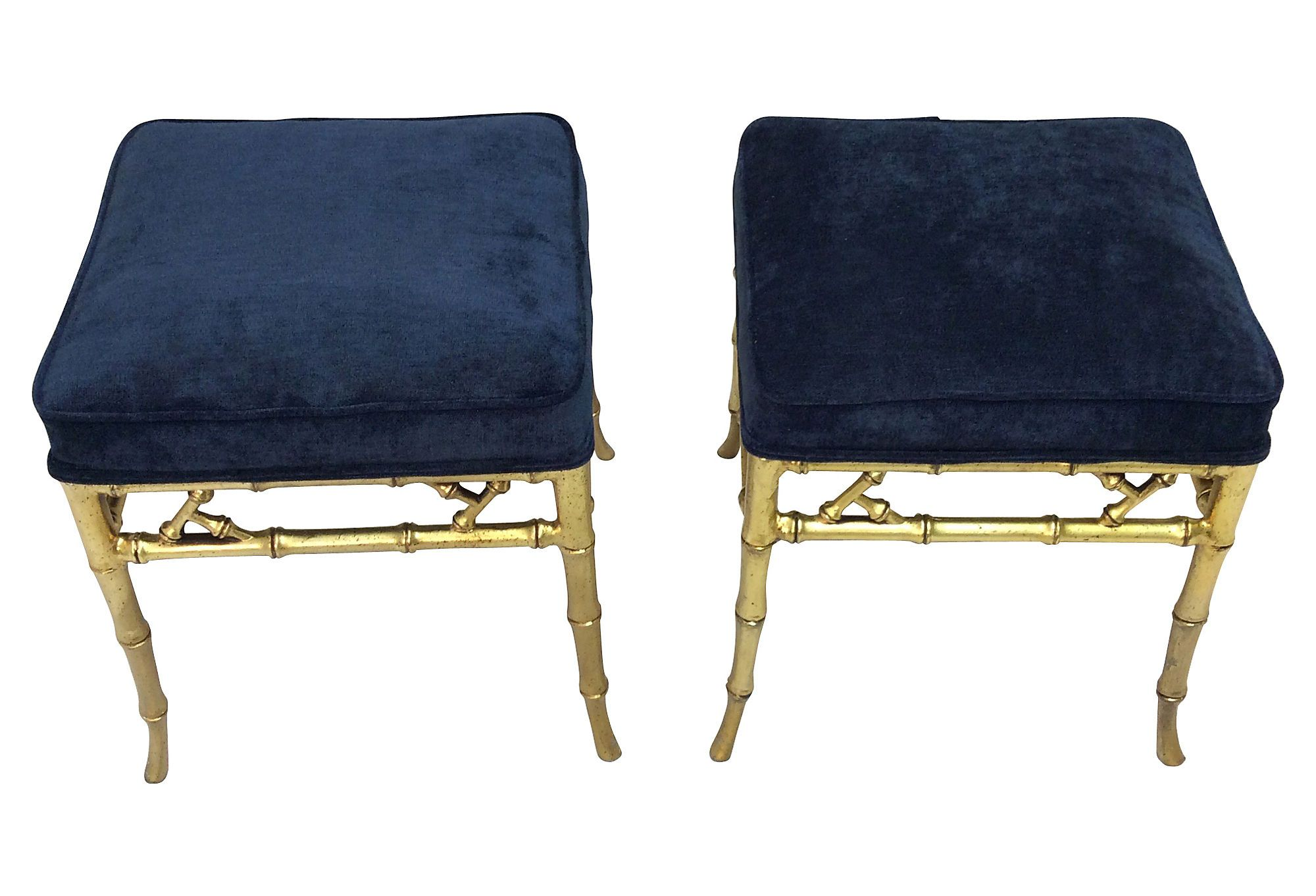 Bamboo-Style Stools, Pair | Love the Look | One Kings Lane