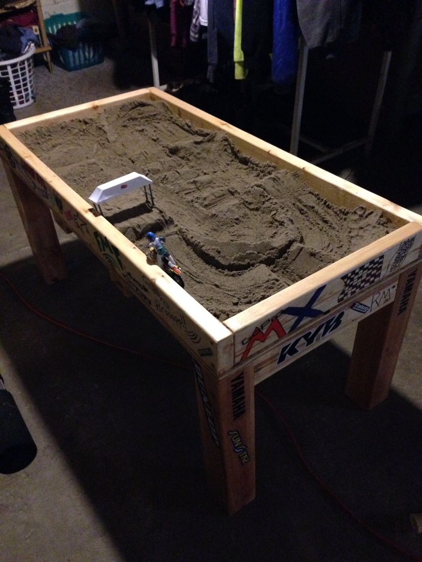 We Made My Grandson His Own Indoor Motocross Track Amp Table