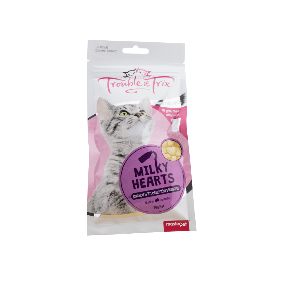 Buy Trouble And Trix Cat Treats Milky Heart Online Low Prices Free Shipping In 2020 Cat Treats Pet Food Packaging Food Animals