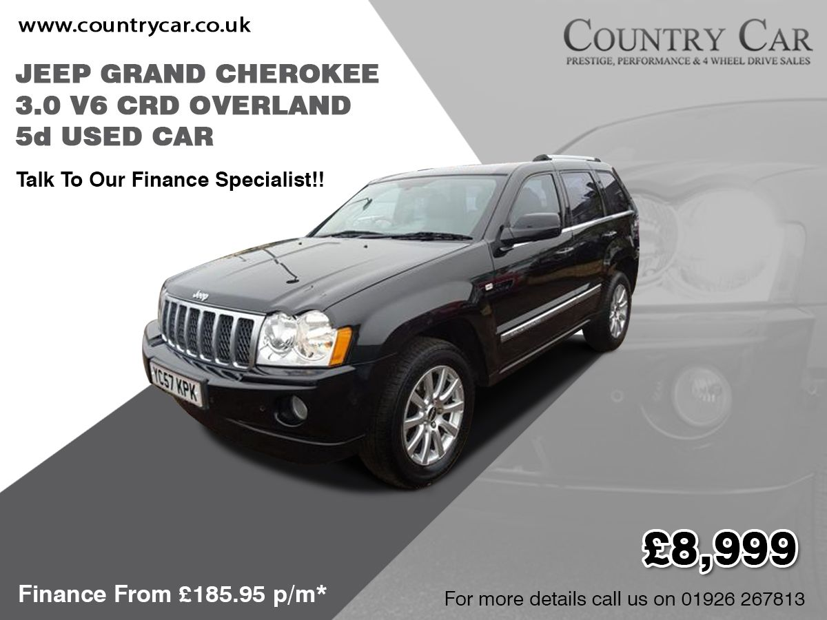 2007 57 Jeep Grand Cherokee 3 0 V6 Crd Overland 5d Jeep Jeepgrandcherokee Usedcarsforsale Usedcars 2007 Cars V6 Jeepcherokee Uk Jeep Used Jeep Jeep Grand Cherokee
