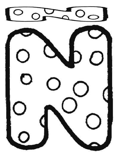 dibujos-colorear-letra-n2.png.jpg 396×512 píxeles | Ideas ...