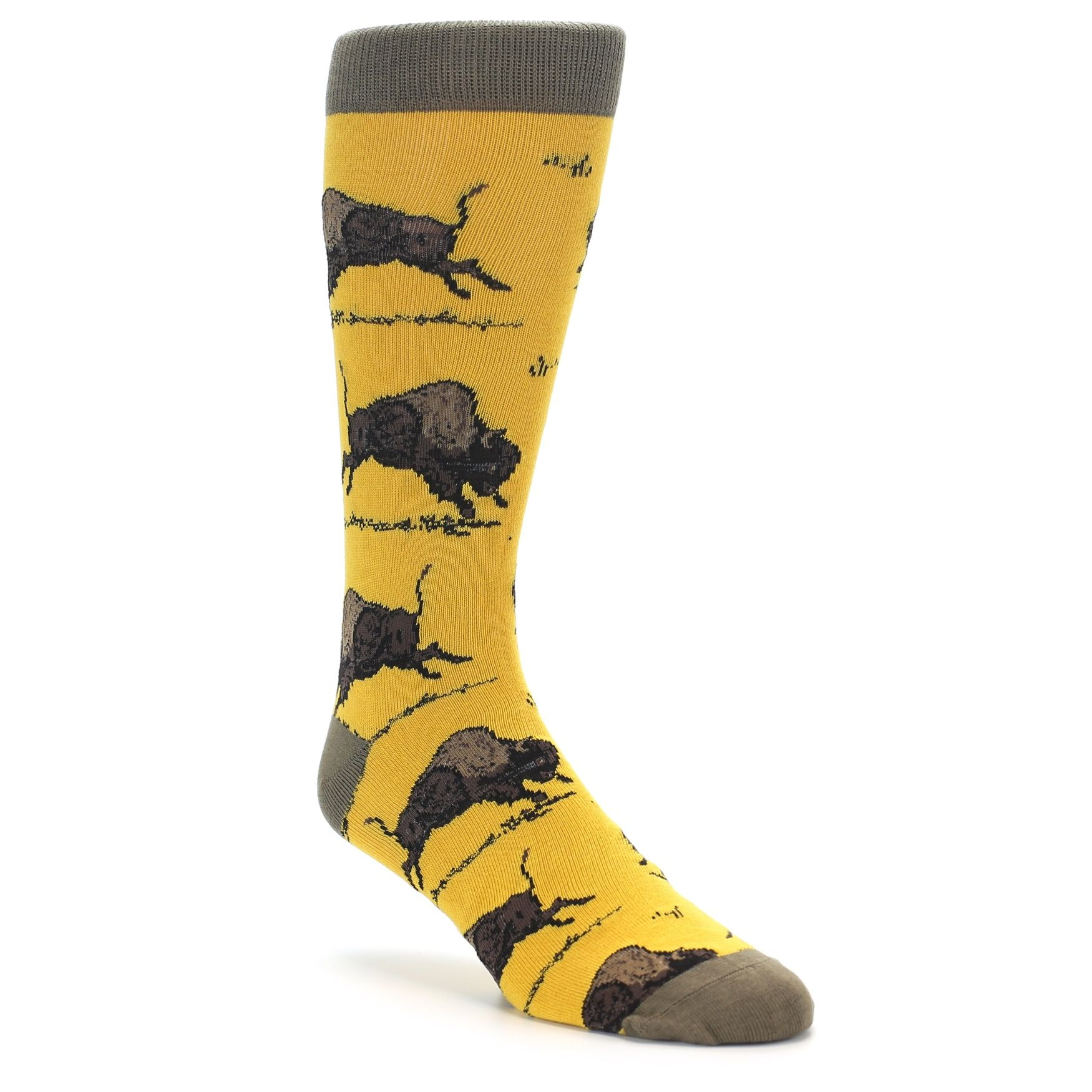 Mustard yellow mens dress socks