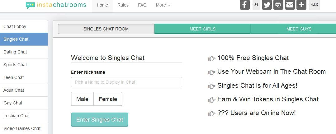 Chatrooms for singles